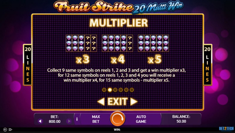 Fruit Strike 20 Multi Win :: Multiplier