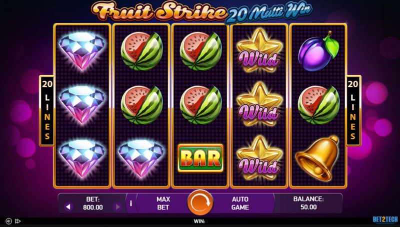 Fruit Strike 20 Multi Win :: Main Game Board