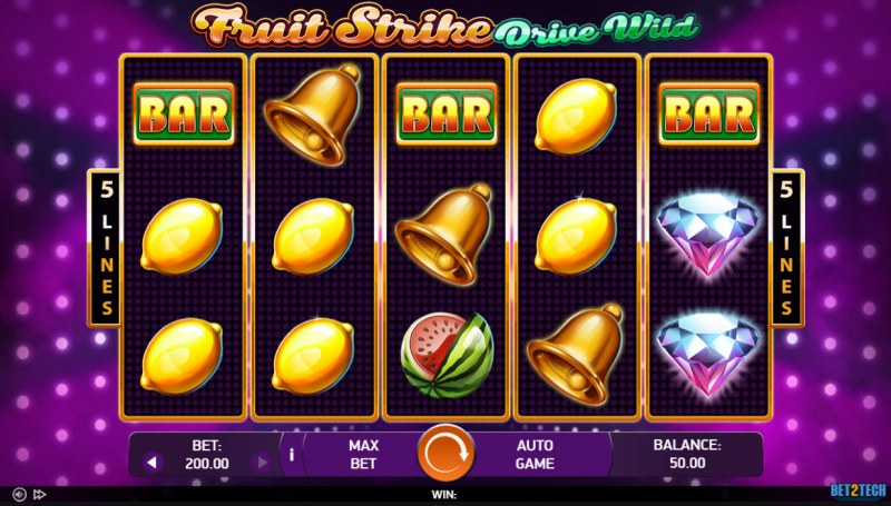 Fruit Strike Drive Wild :: Main Game Board