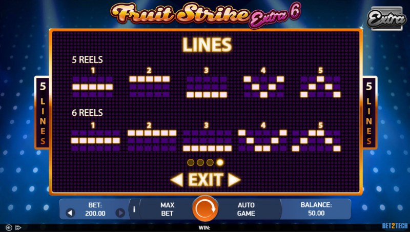 Fruit Strike Extra 6 :: Paylines 1-10