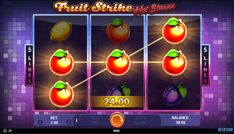 Fruit Strike Hot Staxxx :: A pair of winning paylines