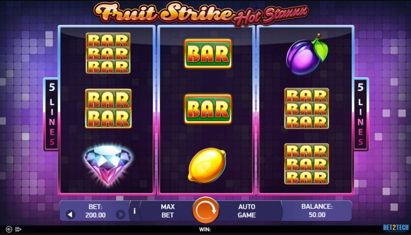 Fruit Strike Hot Staxxx :: Main Game Board