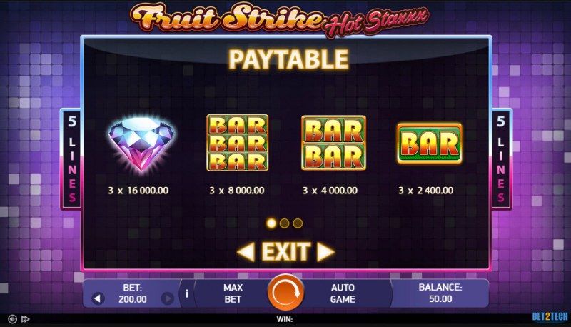 Fruit Strike Hot Staxxx :: Paytable - High Value Symbols
