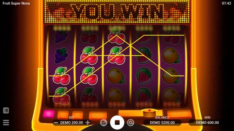 Fruit Super Nova :: A three of a kind win