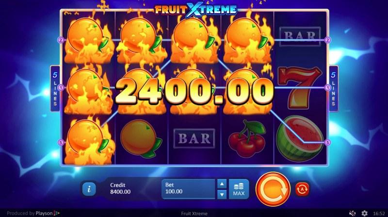 Fruit Xtreme :: Multiple winning paylines