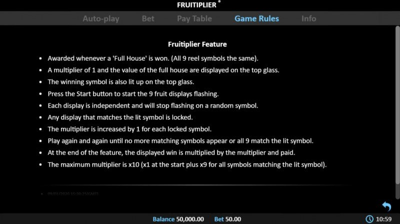Fruitiplier :: General Game Rules