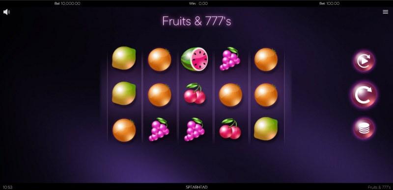Fruits & 777's :: Main Game Board