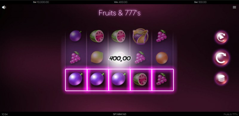 Fruits & 777's :: A three of a kind win