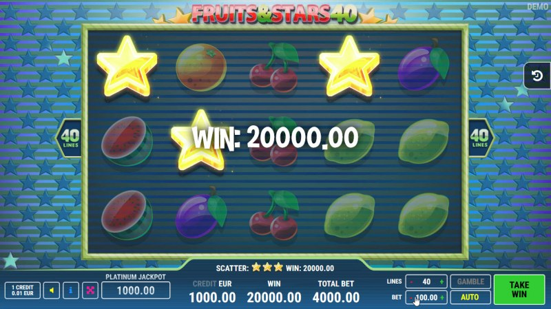 Fruits and Stars 40 :: Scatter Win