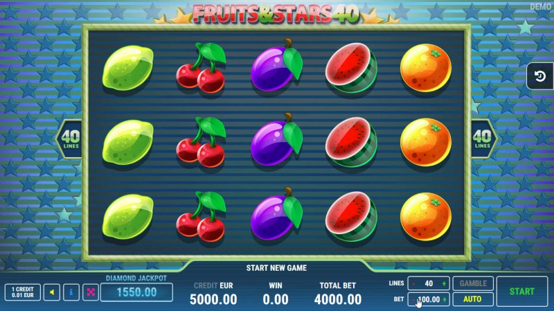 Fruits and Stars 40 :: Main Game Board