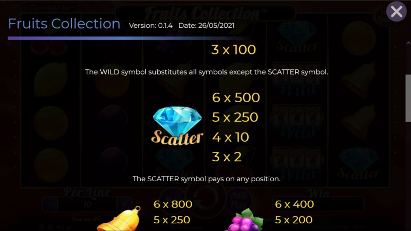 Fruits Collection 10 Lines :: Scatter Symbol Rules