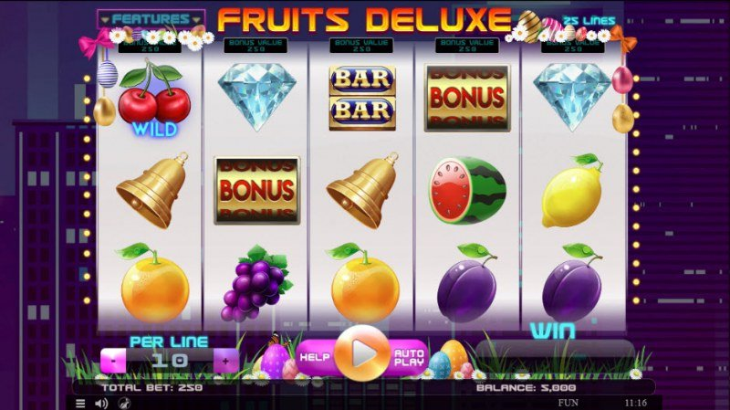 Fruits Deluxe Easter Edition :: Main Game Board