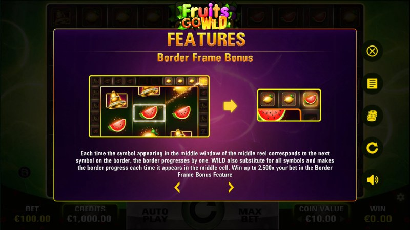 Fruits Go Wild :: Feature Rules