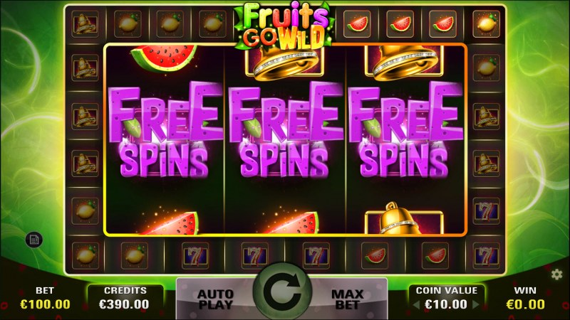 Fruits Go Wild :: Scatter symbols triggers the free spins feature