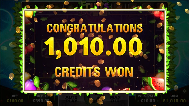 Fruits Go Wild :: Total free spins payout
