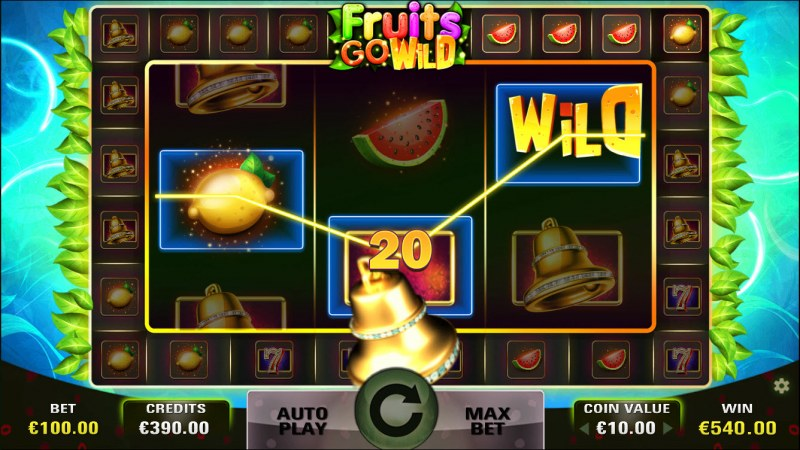 Fruits Go Wild :: Free Spins Game Board