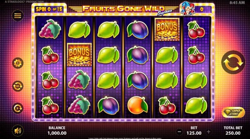 Fruits Gone Wild Supreme :: Main Game Board