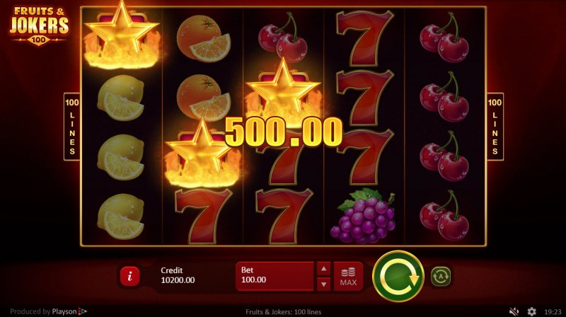 Fruits & Jokers 100 Lines :: Scatter Win
