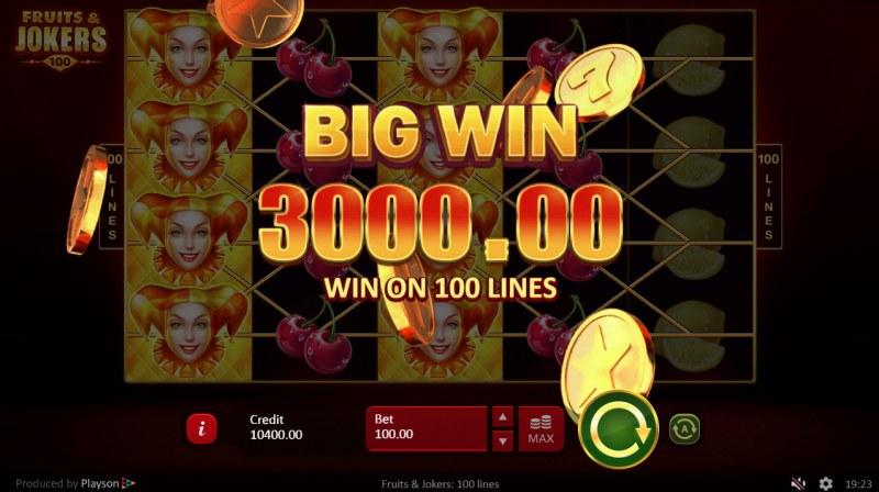 Fruits & Jokers 100 Lines :: Big Win