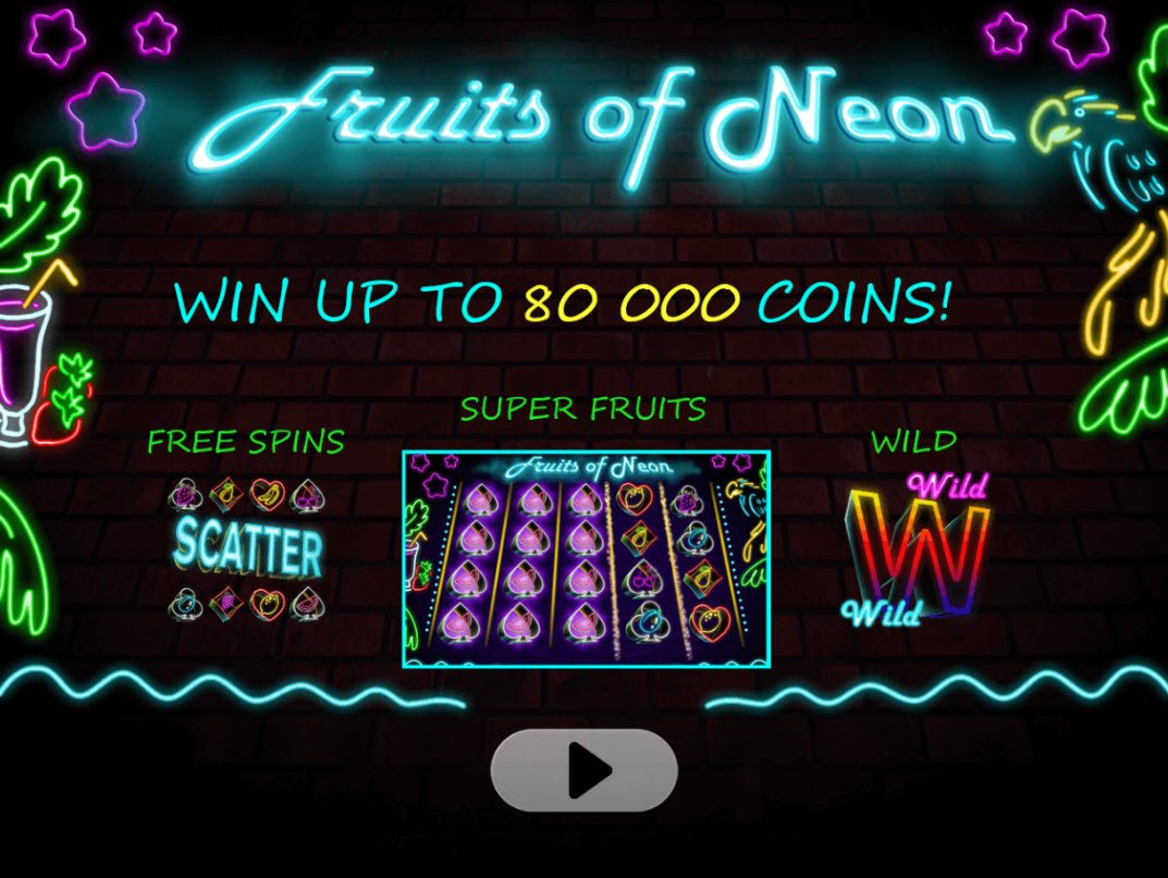 Play slots at Diamond Club VIP: Diamond Club VIP featuring the Video Slots Fruits of Neon with a maximum payout of $80,000