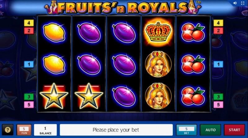 Fruits'n Royals :: Main Game Board
