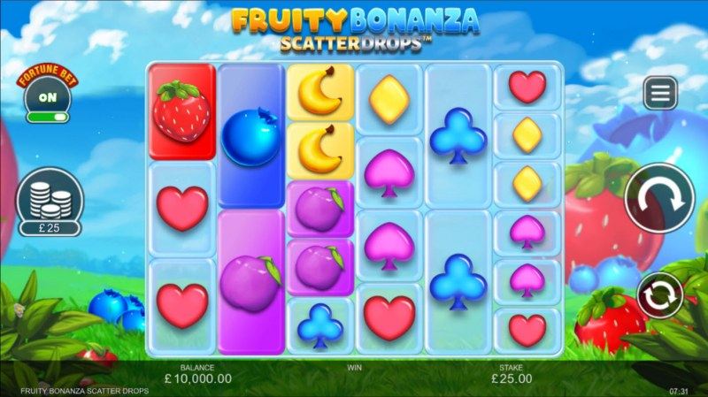 Fruity Bonanza Scatter Drops :: Base Game Screen
