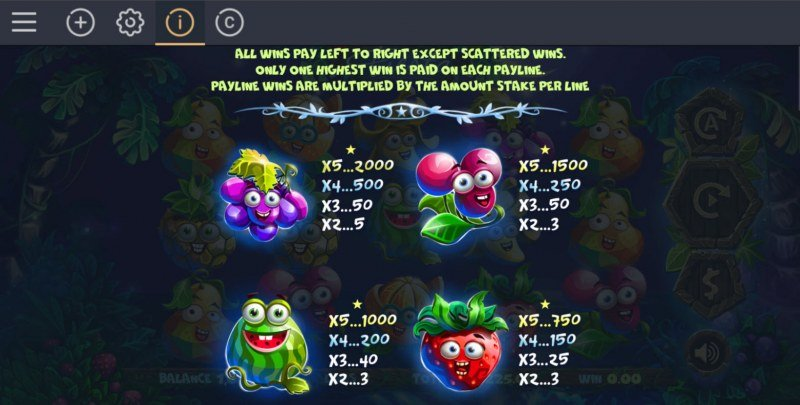 Fruity Fiesta :: Paytable - High Value Symbols