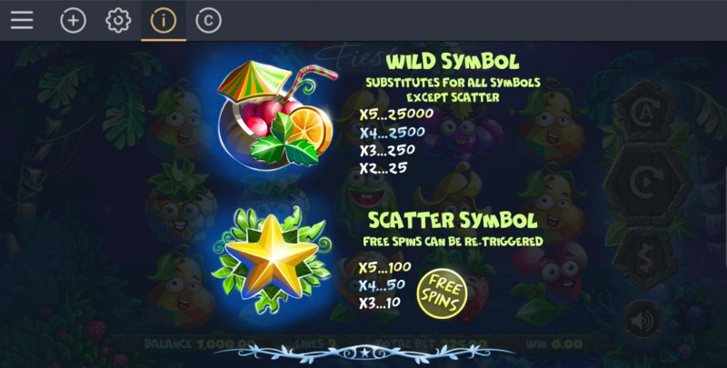 Fruity Fiesta :: Wild and Scatter Rules