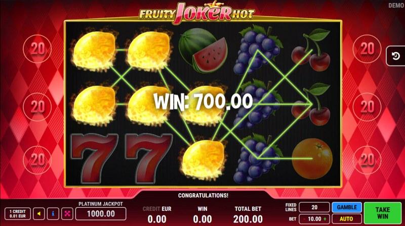 Fruity Joker Hot :: Multiple winning paylines