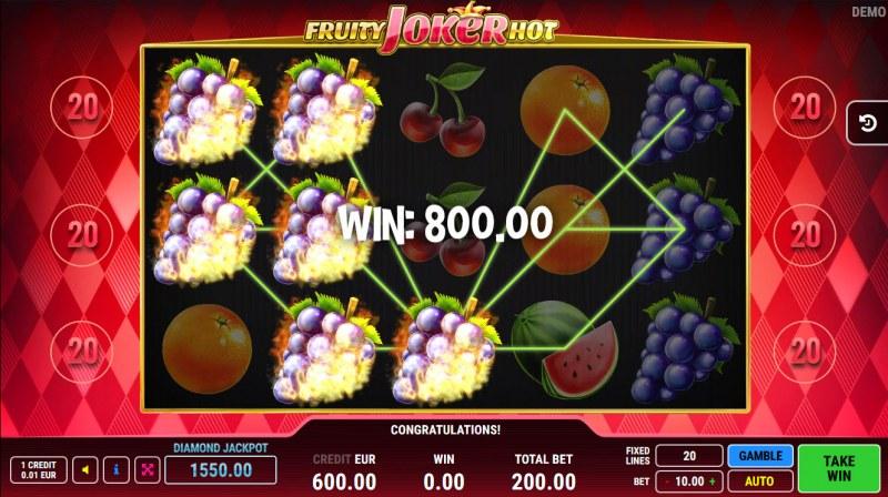 Fruity Joker Hot :: A three of a kind win
