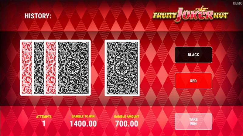 Fruity Joker Hot :: Red or Black Gamble Feature