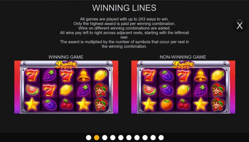 Fruity Pays :: 243 Ways to Win