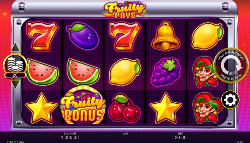 Fruity Pays :: Base Game Screen