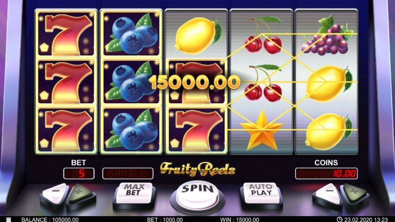 Fruity Reels :: Multiple winning combinations leads to a big win