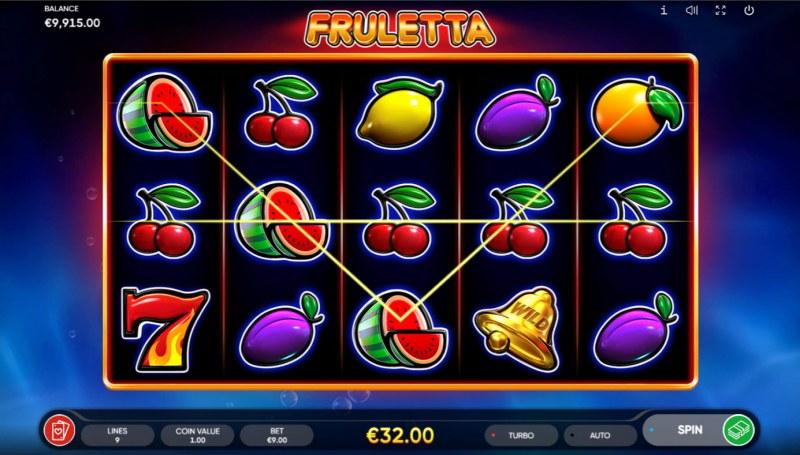 Fruletta :: A three of a kind win