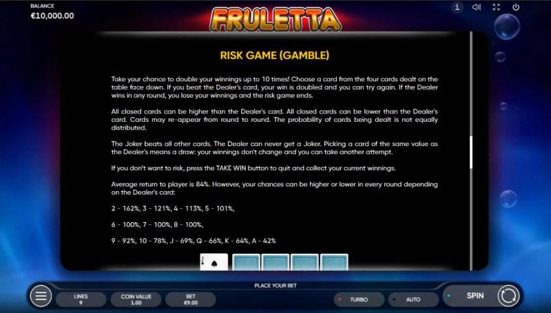 Fruletta :: Gamble feature