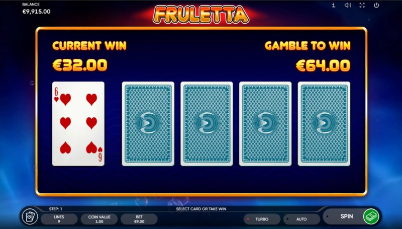 Fruletta :: Red or Black Gamble Feature