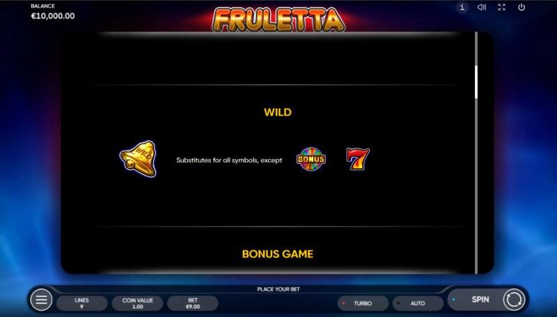 Fruletta :: Wild Symbol Rules