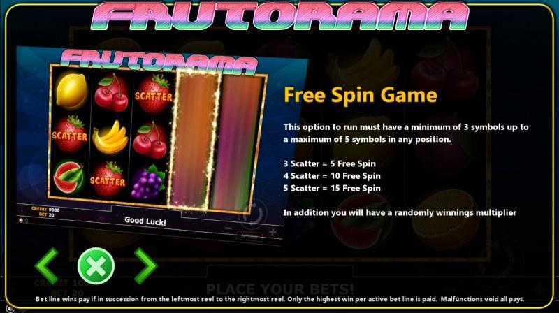 Frutorama :: Free Spins Rules