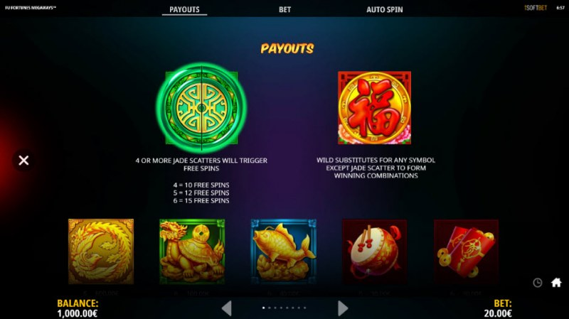 Fu Fortunes Megaways :: Wild and Scatter Rules