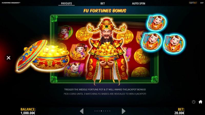 Fu Fortunes Megaways :: Bonus Game Rules