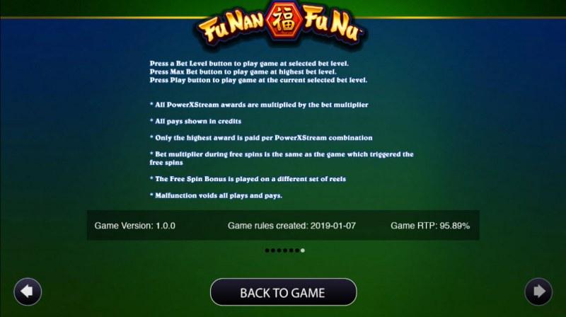 Fu Nan Fu Nu :: General Game Rules
