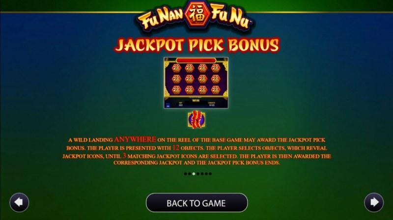 Fu Nan Fu Nu :: Jackpot Pick Bonus Rules