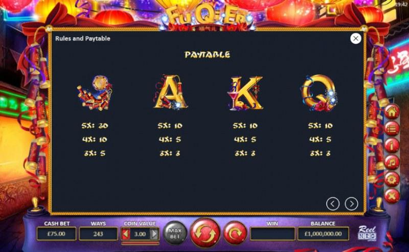 Fu Qi Er :: Paytable - Medium Value Symbols