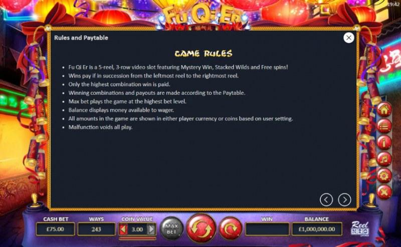 Fu Qi Er :: General Game Rules