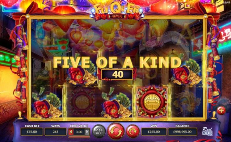 Fu Qi Er :: A five of a kind win