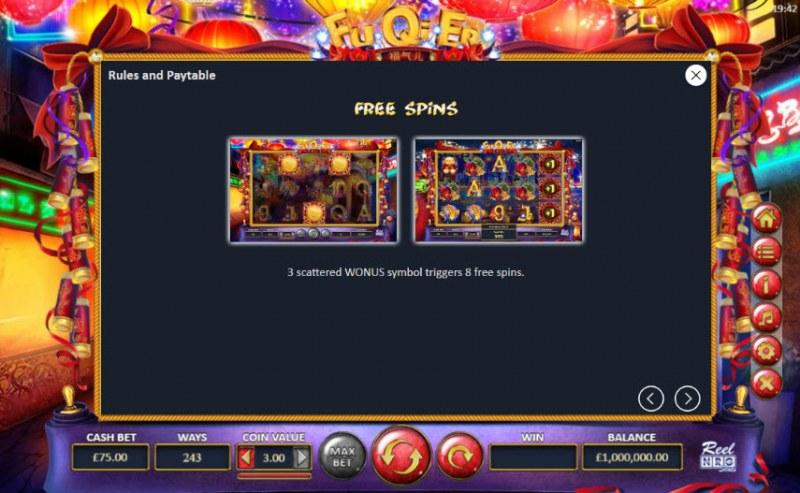 Fu Qi Er :: Free Spins Rules
