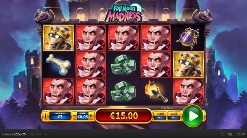 Full Moon Madness :: A five of a kind win