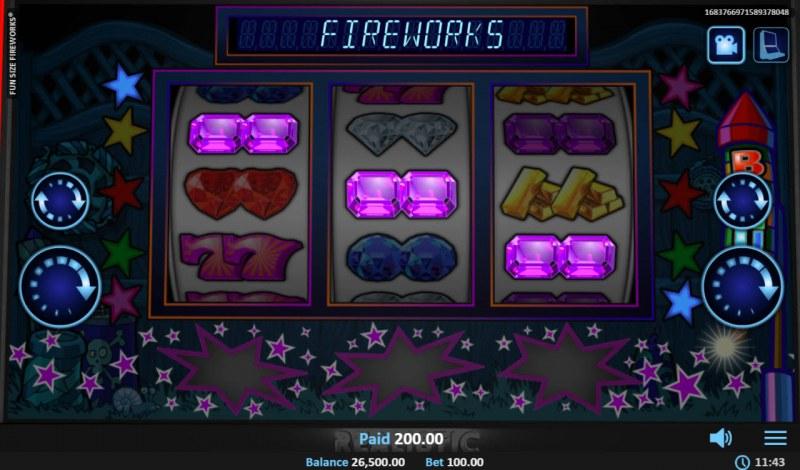 Fun Size Fireworks :: A winning 3 of a kind