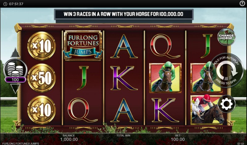 Furlong Fortunes Jumps :: Main Game Board